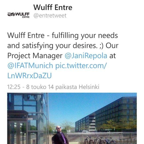 Follow us on Twitter! @entretweet