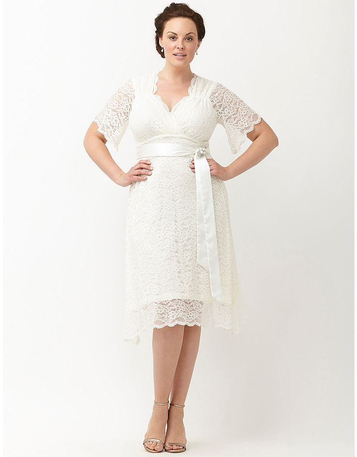 198 best images about short plus size wedding dress on for Dresses for civil wedding