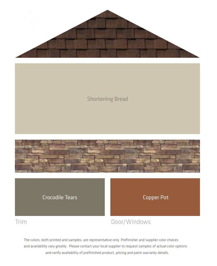Exterior Color Combinations, Including Roof, Stone, Main Colors, And Accent  Colors.