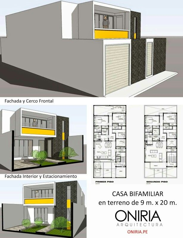 Casa bifamiliar ONIRIA, 9x20mts