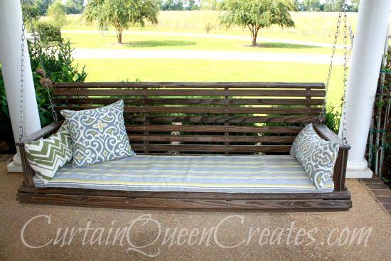Porch Swing Cushion DIY