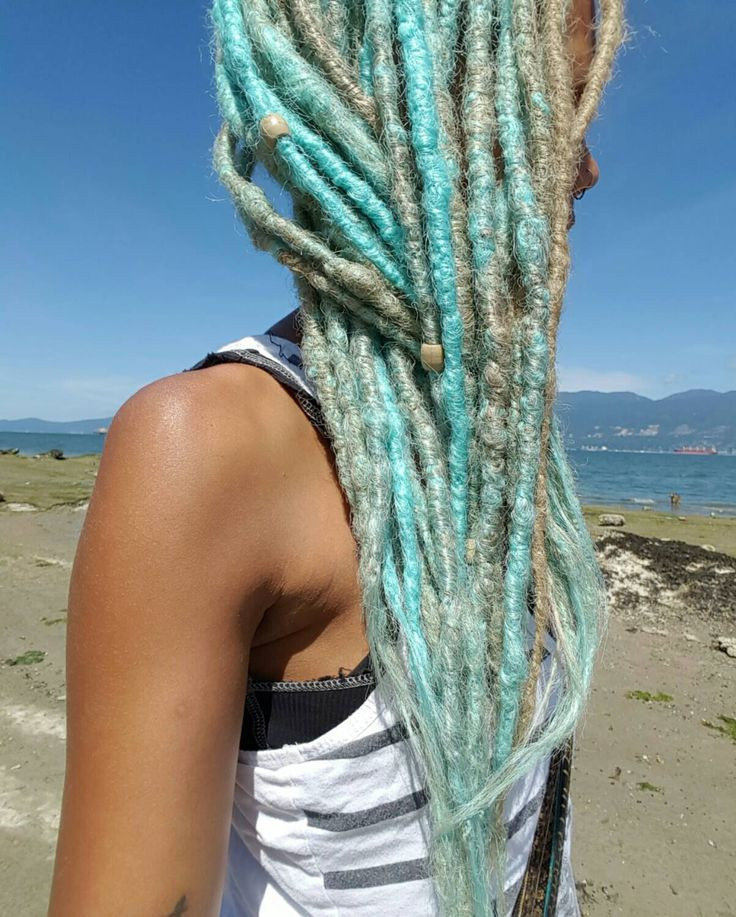 10 Natural Look Synthetic Dreads, Natural Looking Dreadlocks,10 SE Dread Extensions, Blonde Dreads, Blue Dreads, Accent Dreadlock Extensions by FawnaWolfe on Etsy https://www.etsy.com/listing/246596989/10-natural-look-synthetic-dreads-natural