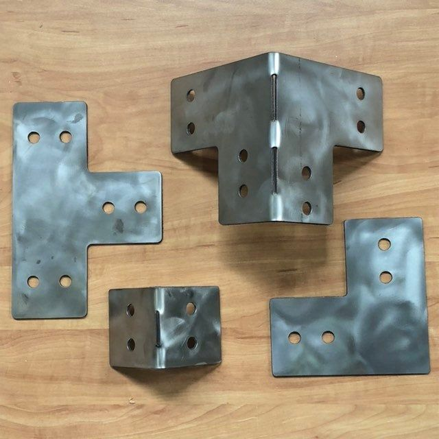 1 8 Regular Or Stainless Steel Set Of 4 For 4 X 4 Posts Heavy Duty Shop Table Pergola Corner Brackets T S And L S Also Ava In 2020 Pergola Steel Steel Furniture