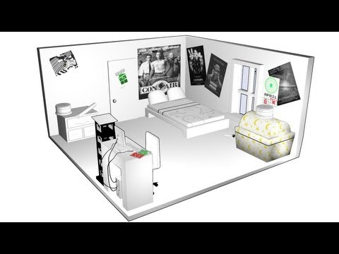 John Egbert's room in 3D. Homestuck animation