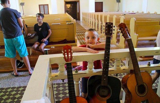 A templom nyújtott menedéket az egyházzenei táborozóknak
