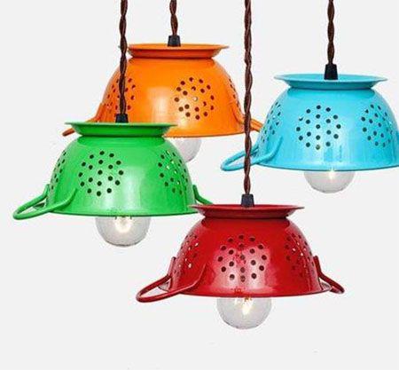 M s de 25 ideas incre bles sobre lamparas para cocina en - Lamparas originales recicladas ...