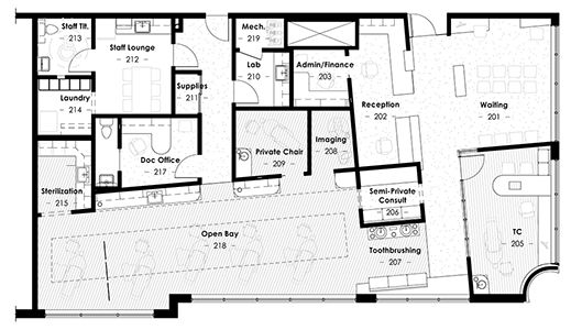 Floor plan zova office design pinterest office designs for Orthodontic office design floor plan