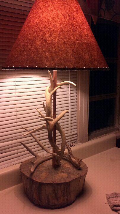 antler lamp.......