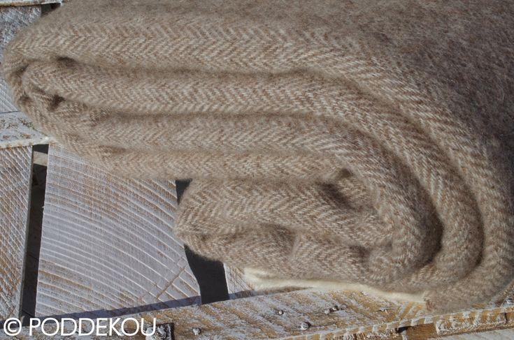 Merino - mohérová deka svetlohnedá | PODDEKOU