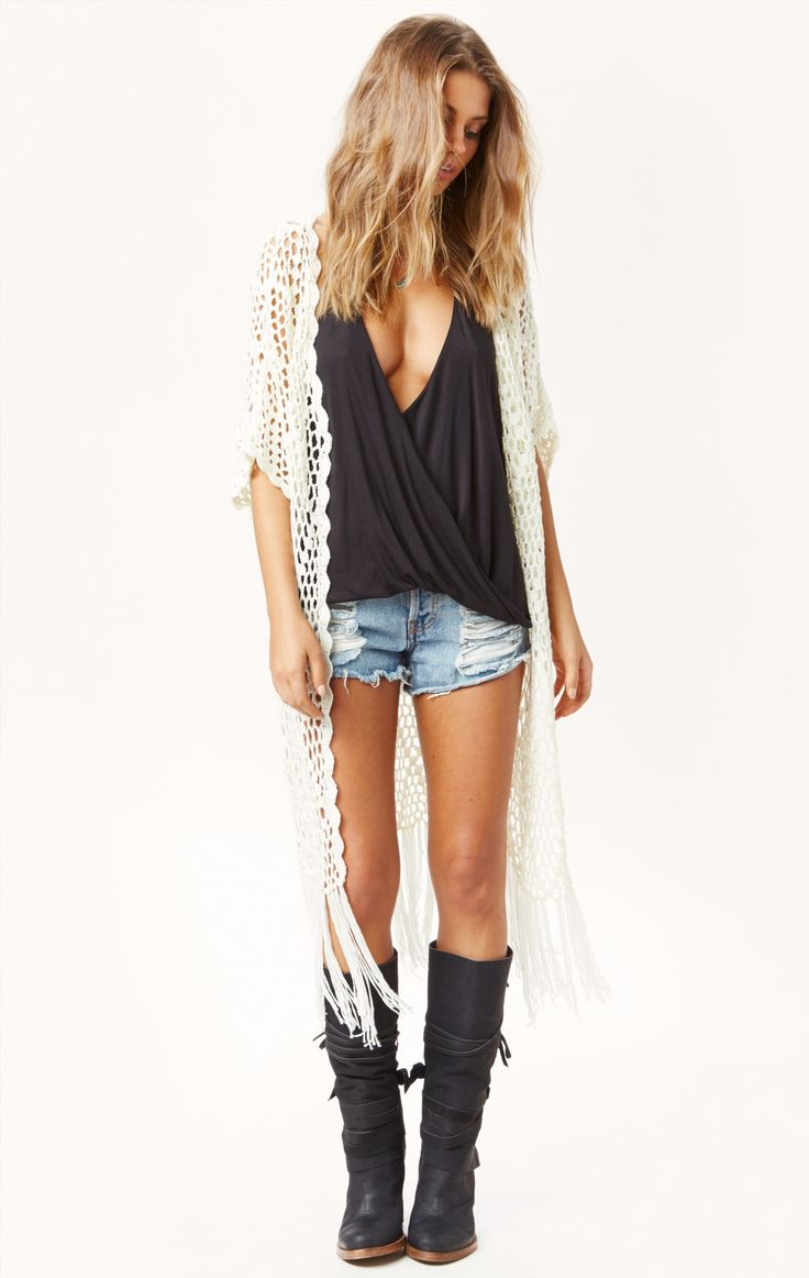 crochet jacket by BLU MOON #planetblue
