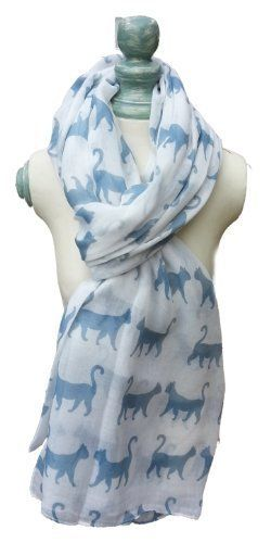 Scarf for #catlovers @Kitty Purring #womenswear #scarf $19