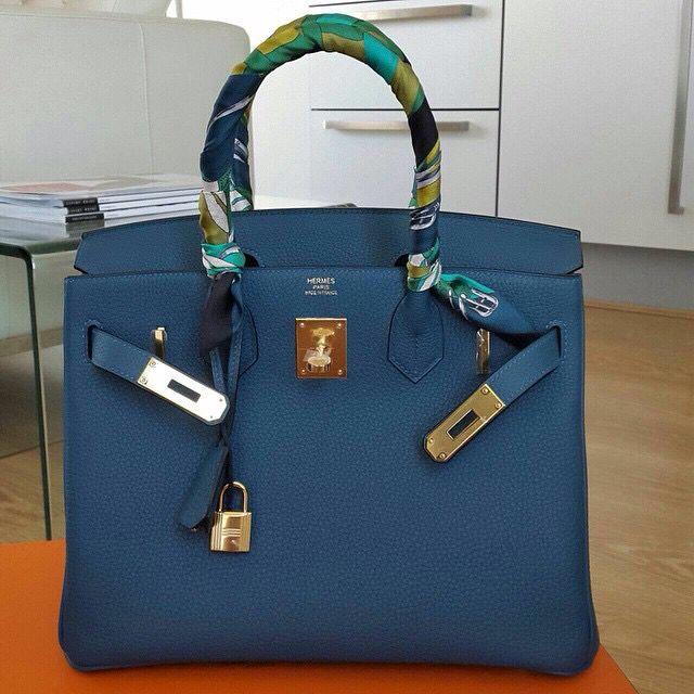Birkin in Blue Colvert...GHW...and Twillies... | Hermes ...