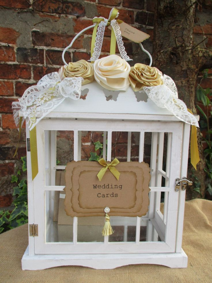 wood wedding card holders%0A Birdcage Wedding Card Post Box Card Holder Handmade Flowers by TheIvoryBow  on Etsy