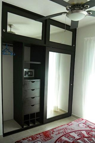 wardrobe with mirrors