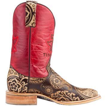 Women's Tin Haul Paisley Rocks Cowboy Boots