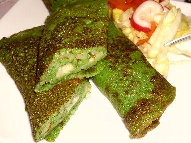 Špenátové palačinky / Spinach pancakes