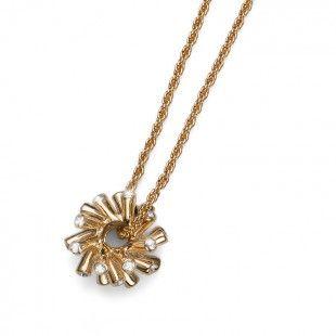 Pendant Coral gold crystal #OliverWeber