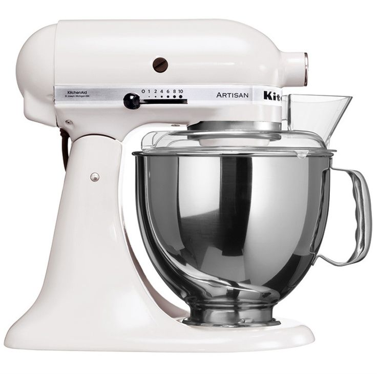 KitchenAid Artisan kjøkkenmaskin hvit