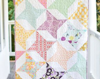 Baby Crib Bedding- Design Your Own Baby and Toddler Quilt in Fabrics You Choose- Star