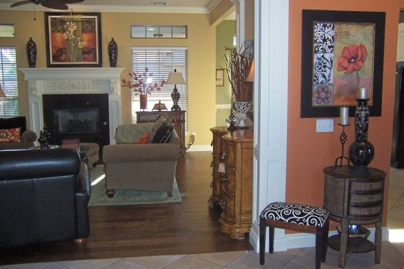 17 best images about orange kicthen ideas on pinterest kitchen colors mediterranean kitchen - Living room and kitchen color schemes ...