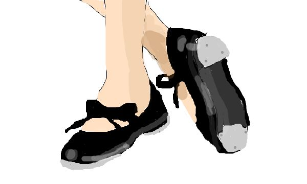 Paint A Tap Shoe Picture