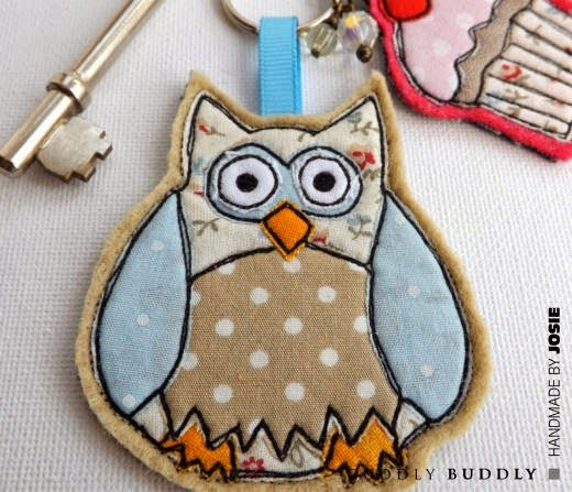 SewforSoul ~ Free Style Embroidered Felt Owl Keyring with Full Tutorial
