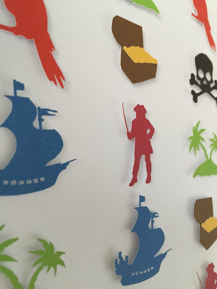 Image of Pirates - Small - Red, Black, Green and Blue