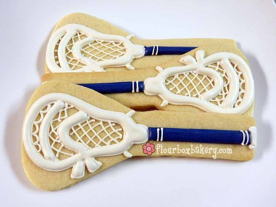 AWESOME Lacrosse cookies by FlourBoxBakery!!