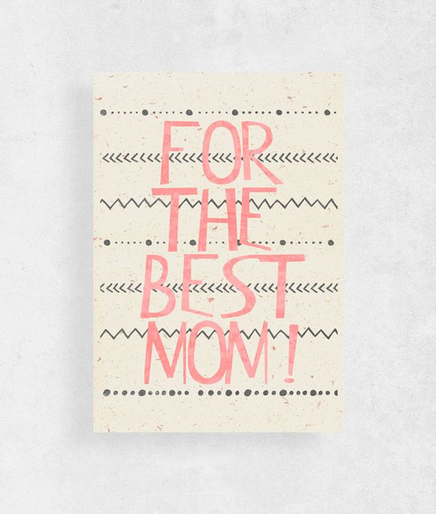 Mother's Day Cards – Mothers Day Card |for the best mom | – a unique product by WeJustLikePrints via en.DaWanda.com