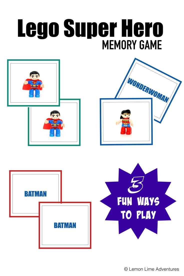 Lego Super Hero Memory Game.001