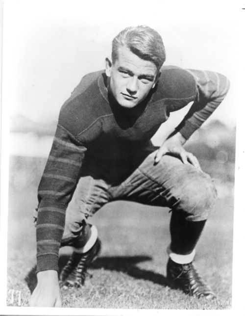 John Wayne, photographed during the time he attended USC, where he played on the Trojans football team (photo 1925-26)