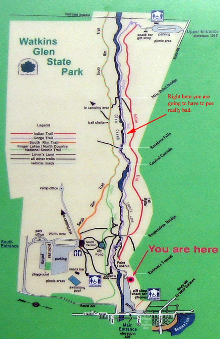 Watkins Glen State Park Trail Map