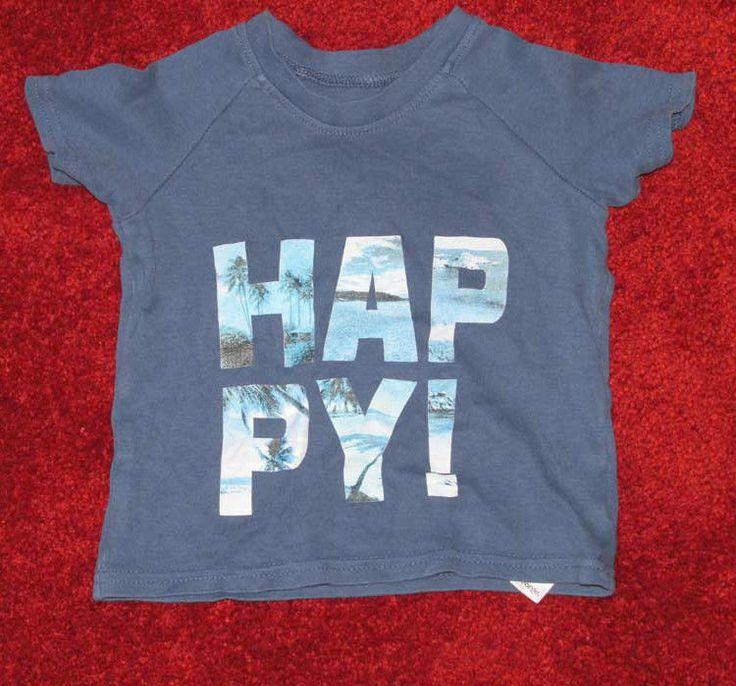 Boys #tshirt size 12-18 months 81-86cm #George #Happy graphic #kidswear