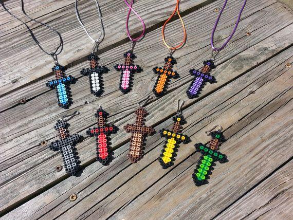 15 Piece Boys Mini Sword Necklace W/ by LittleShoppeofPixels