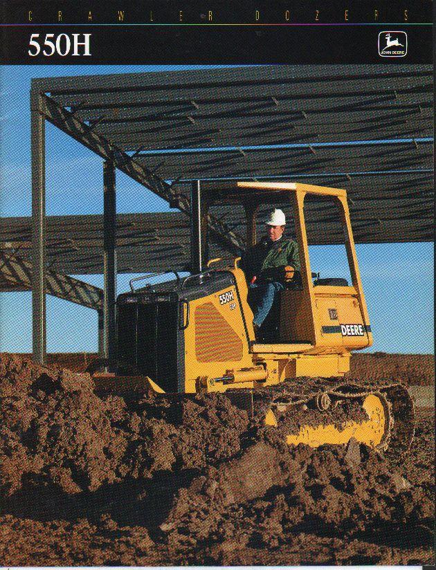 "John Deere ""550H"" Crawler Tractor Dozer Brochure Leaflet • £5.50 - PicClick UK"