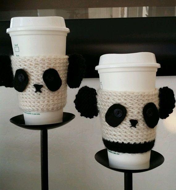 Panda Bear Kawaii bouteille coupe confortable gentillesse sur une tasse.