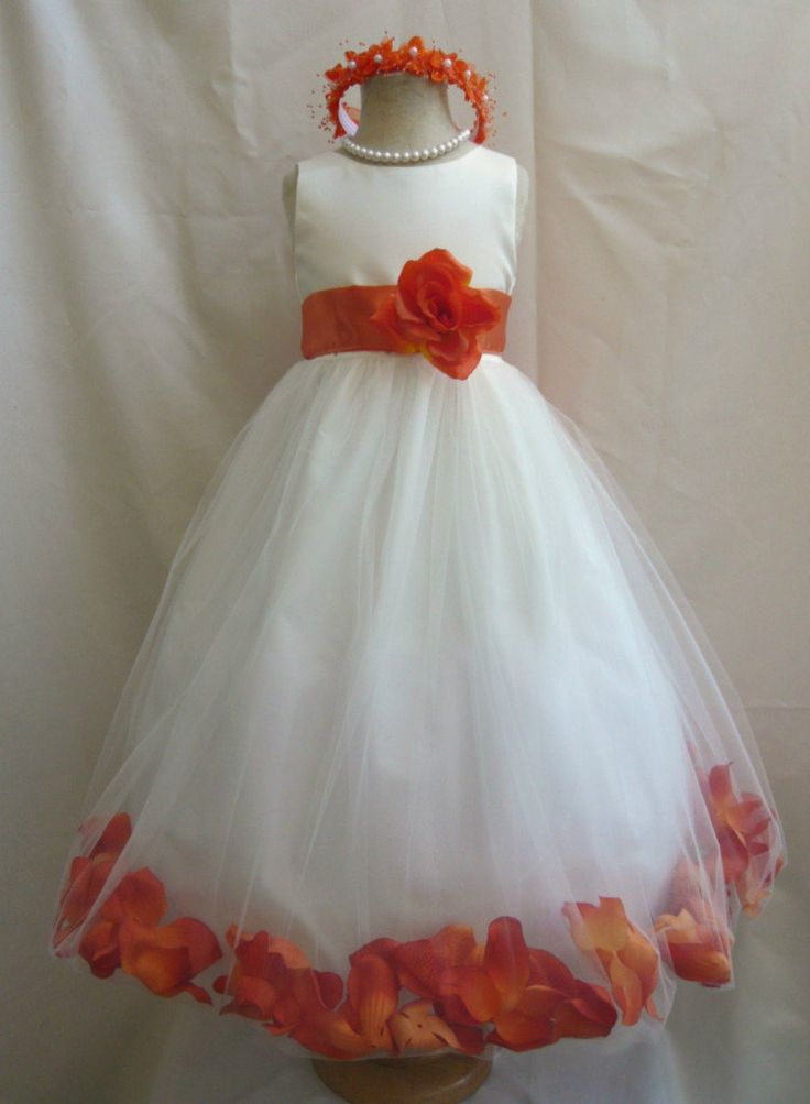 Wedding flower girls the o 39 jays and girls dresses on for Flower girls wedding dress