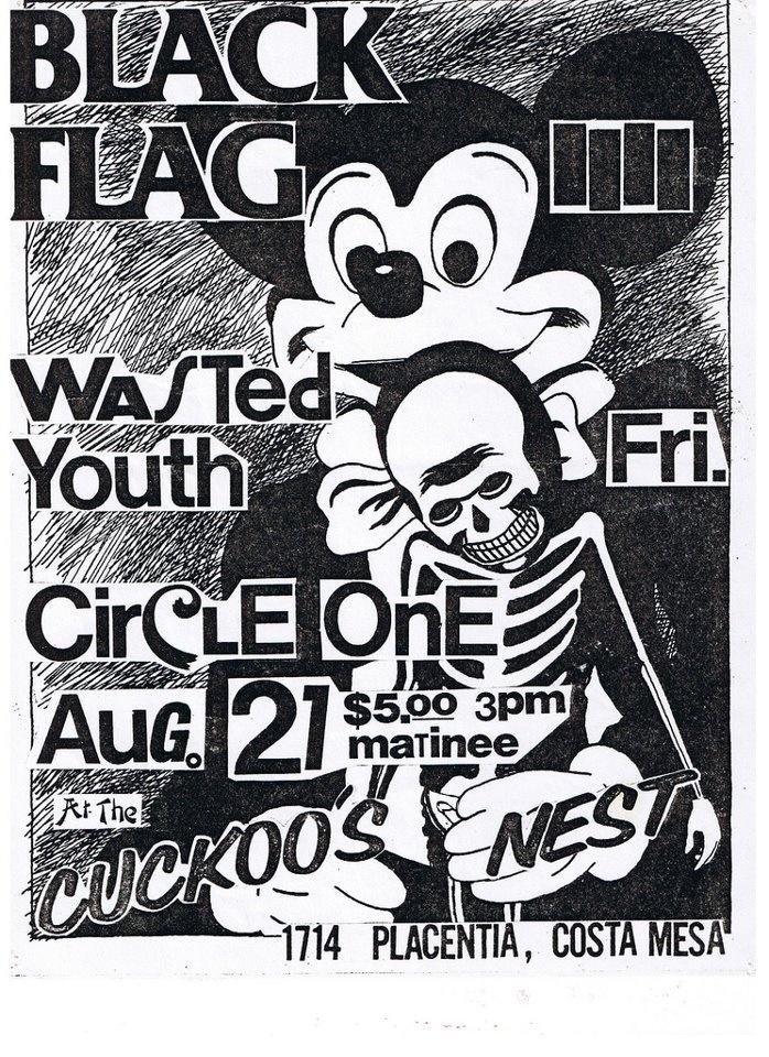 Black flag gig posterconcert