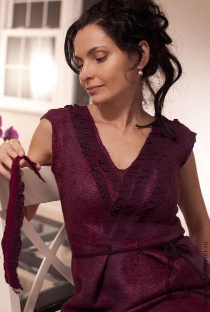 """Платья ручной работы. Ярмарка Мастеров - ручная работа Войлочное платье ручной работы""""red wine dress"""". Handmade."""