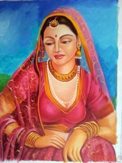 Buy paintings - Ladies Paintings , Rajasthani Paintings in Atgom Arts