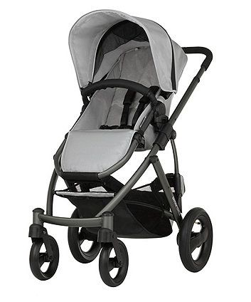 The stylish Britax Smile pushchair is suitable for little ones from six months old, but can also be converted into a pram or travel system to use from birth by simply adding the Britax Smile carrycot (included) or  Babysafe car seat (sold separately)