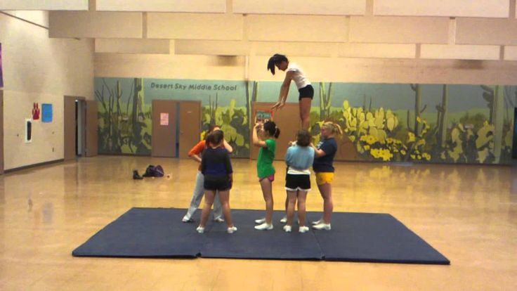 Awesome middle school cheer stunt!