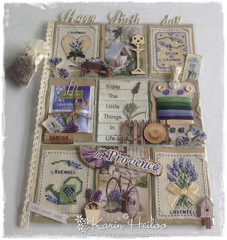 La Provence Pocket Letter....... Met het 3D stansblok la Provence van Studio Light. Wil je meer zien? Bezoek dan mijn blog: karinshobby.blogspot.com
