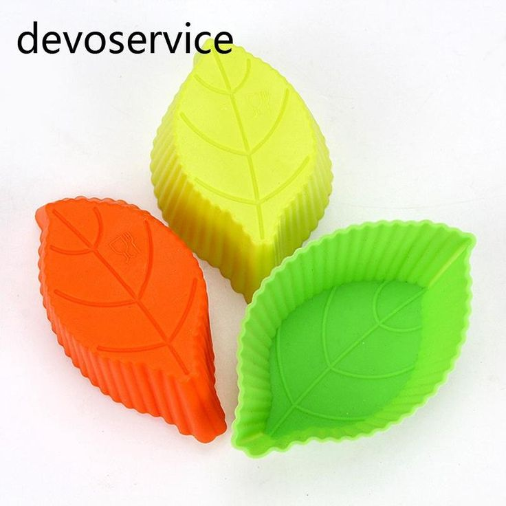 [Visit to Buy] 3PCS/Lot Leaf Design Muffin Cup Silicone Moulds Cupcake Liner Soap Mould Tray Forma De Silicone Cake Decorating Tools Bakeware #Advertisement