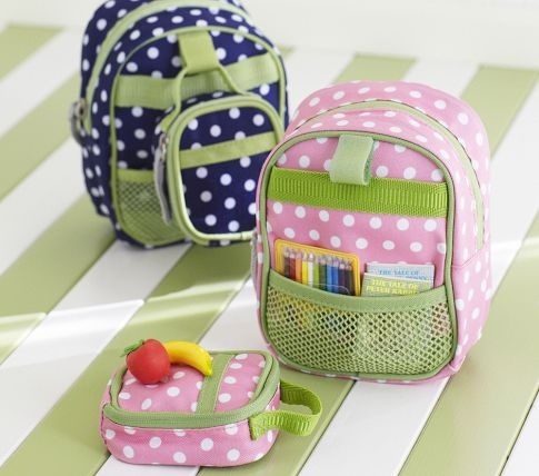 PBK doll backpack  & lunch bag (bought)