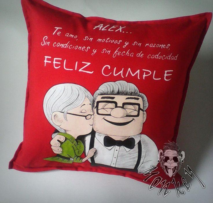 #love #cumpleaños #personalizados #cojines #up #amor