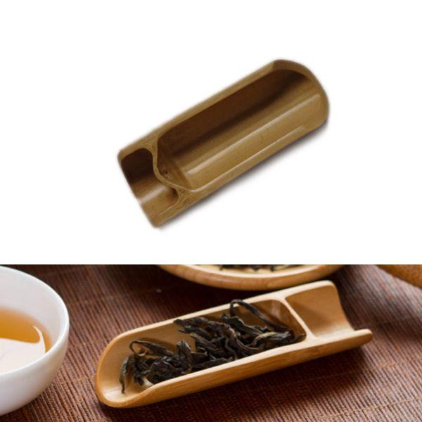 Bambú natural del té cuchara cuchara de té de hojas de té accessaries selector titular del kungfu