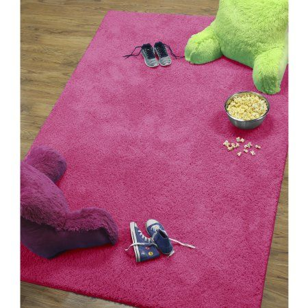 Your Zone Solid Shag Rug Available In Multiple Sizes And Colors Pink
