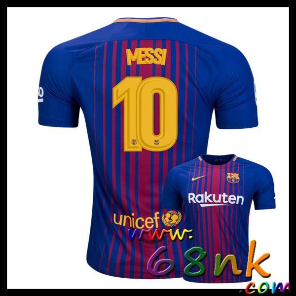Maillots de foot 2017/2018 FC Barcelone Lionel Messi Homme Domicile