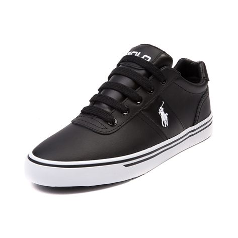 Shop for Mens Hanford Casual Shoe by Polo Ralph Lauren in Black White Leather at Journeys Shoes.